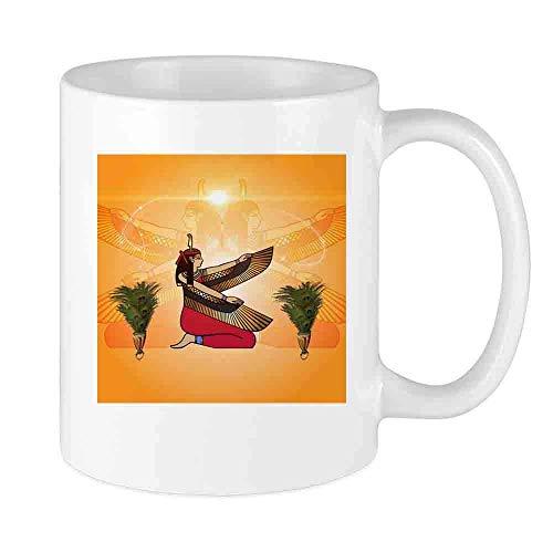 Taza de café Isis la diosa de la mitología egipcia Taza de encargo del coche que ama las tazas de té Taza de café