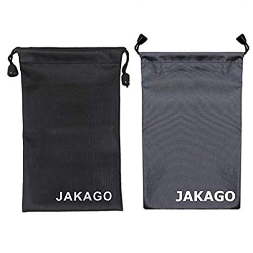 JAKAGO 2 Pack Cell Phone Storage Bag Soft Microfiber Glasses Sleeve Pouch Waterproof Sunglasses Bag Electronic Gadgets Case Cover with Drawstring Closure for Cleaning