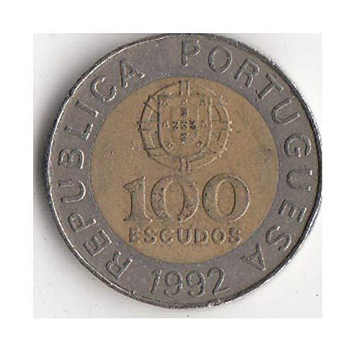 Moneda Antigua Portugal 100 Moneda Escudo Europea Nueva Moneda Original Edición Conmemorativa 100% RARA Real Año Aleatorio de la UE