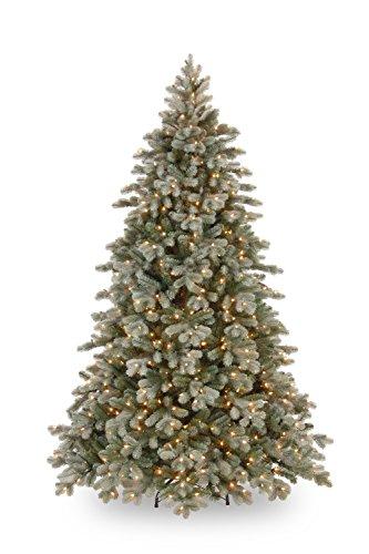 artplants – Albero di Natale in plastica Parigi, Frost, LED, Verde Scuro, Supporto in Metallo, 230 cm, Ø 160 cm – Albero di Natale Artificiale/plastica