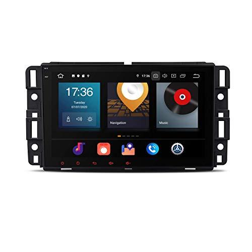 KAUTO 8 Android 10 Navegación GPS estéreo para automóvil Android Auto Radio 8-Core 4G RAM 64G ROM Unidad Principal de un Solo DIN Admite Auto Play Video 2K WiFi OBD2 Dab + DVR TPMS para GMC Chevrolet