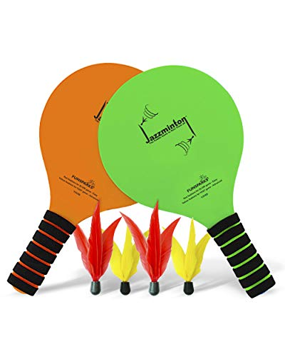 Funsparks Paddle Ball Jazzminton Game - All-Season...