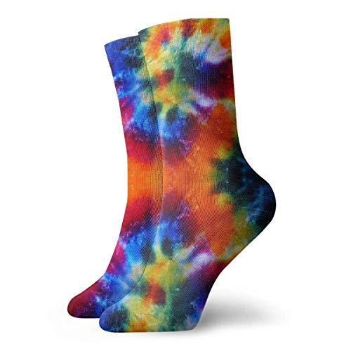 Art Design Tie-dye 30cm Long Calcetines Atléticos Algodón Ocio Medias