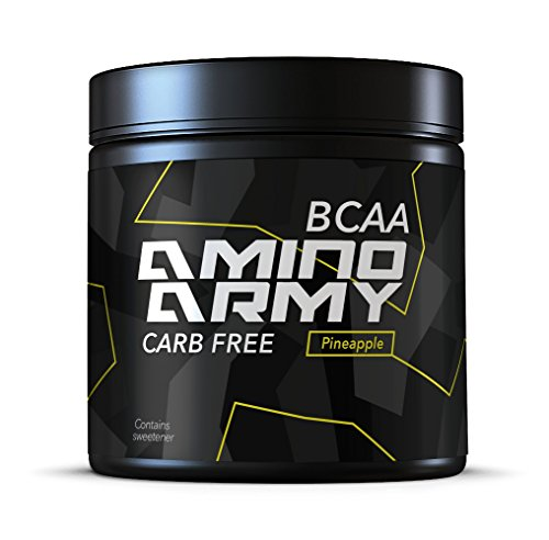 BCAA Powder 25 Servings (Pineapple) 6000 mg BCAA + 1000 mg Glutamine + 3000 mg Alanin, Lysine, Glycine Total 10,000 mg Amino acids/Serving Pre Workout & Recovery Purposes