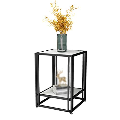 A-Yan-Q-Home Office Furniture Bedside Table, Large Area Metal Sofa Table for Offices Living Room Hotel Room Small Apartment Decorative Coffee Table Pedestal Tables (Color : C, Size : 45 * 45 * 56CM)