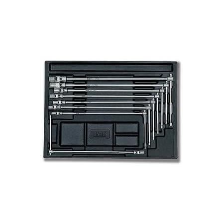 USAG 519/276 - Assortimento con chiavi a T snodate con bocca esagonale (8 pz) 05190725