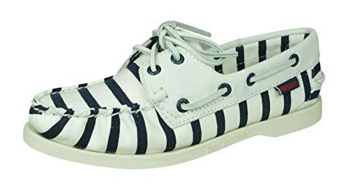 Sebago Spinnaker Stripe Zapatos náuticos de Lona de Cubierta para Mujer