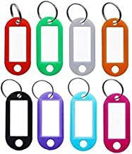 VIP Home Essentials - Small Mini Durable ABS Covered Solid Brass Body Individually Keyed Padlock - 8 Pack Lock Set (8 Key Tags)