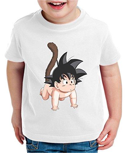 WhyKiki Son Baby Camiseta para Niños T-Shirt Goku Dragon Master Ball Vegeta Turtle Roshi Db