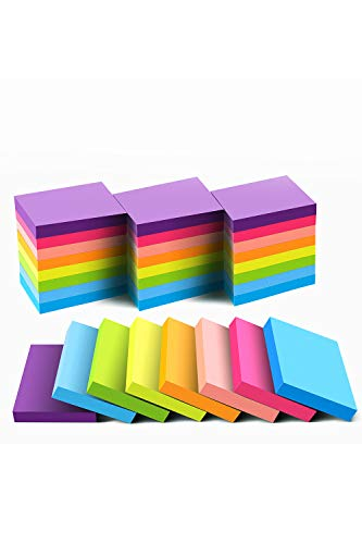 (24 Pack) Sticky Notes 1.5x2 Inches, Bright Colors Self-Stick Pads,75 Sheets/Pad