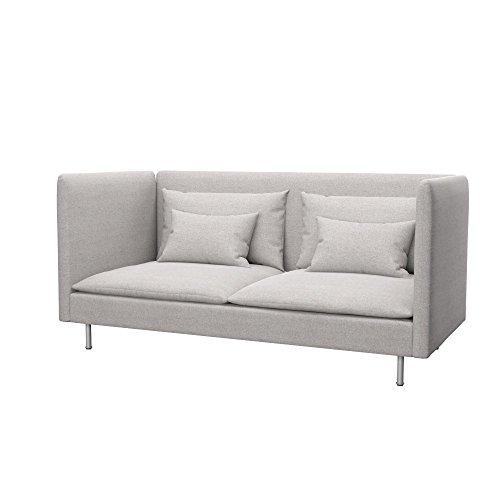 Soferia Bezug fur IKEA SODERHAMN 3er-Sofa, hohe Ruckenlehne, Stoff Classic Beige