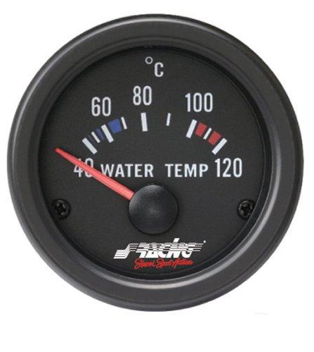 Simoni Racing WT/B Indicador Eléctrico de Temperatura Agua, Negro