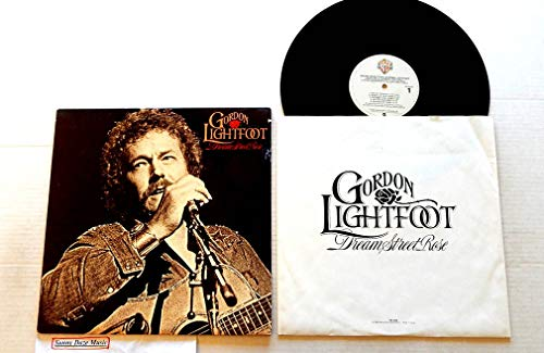 Gordon Lightfoot Dream Street Rose - Warner Brothers Records 1980 - 1 Used Vinyl LP Record - 1980 Pressing HS 3426 Very Rare- Ghosts Of Cape Horn - The Auctioneer - If You Need Me - Sea Of Tranquility