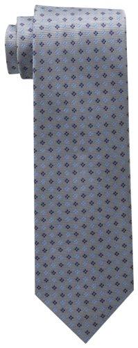 Tommy Hilfiger Men's Core Neat II Tie, Silver, One Size