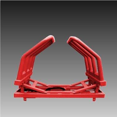 Hydraulische Ballenzange Ballengreifer Zange 1,0m-1,8m Ø max1.2 t/für Frontlader Euroaufnahme Rot