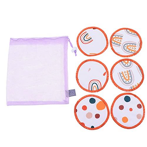 ARTIBETTER 6Pcs Lavável Almofadas de Mama Reutilizáveis Almofadas De Enfermagem Amamentação Mamilo Pad Com Saco de Lavagem para A Amamentação