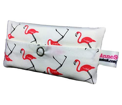 AnneSvea tatüta_Flamingo_Weiss, Trousse de Toilette Femme Rose Weiß 13 x ca. 7 x 2 cm
