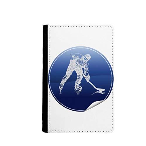 beatChong Wintersport Skaten und Eishockey Aquarell-Pass-Halter Travel Wallet Abdeckungs-Fall Karten-Geldbeutel