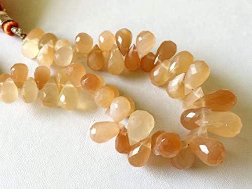 GEMS-WORLD Beads Gemstone 1 Strand Facet Natural Moonstone Many popular brands Oklahoma City Mall Peach