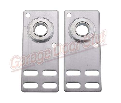 Best Price Akalo86 Garage Door End Bearing Plates- 1 Pair - 6-5/8 Equipment, Rollers, Sensors & Spr...
