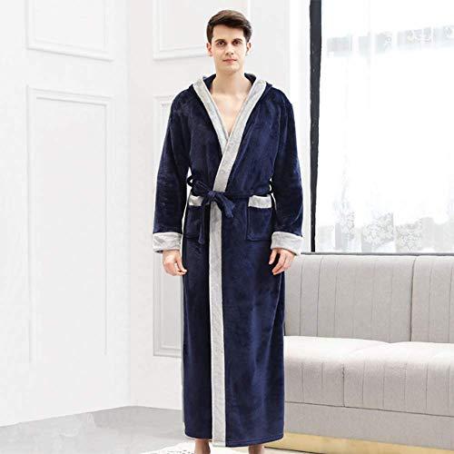 Macro koppels pyjama lange mouw met capuchon herfst en winter mode plus fluwelen badjas/flanel pyjama ' s/schoonheidssalon jassen/dikke lange pyjama set