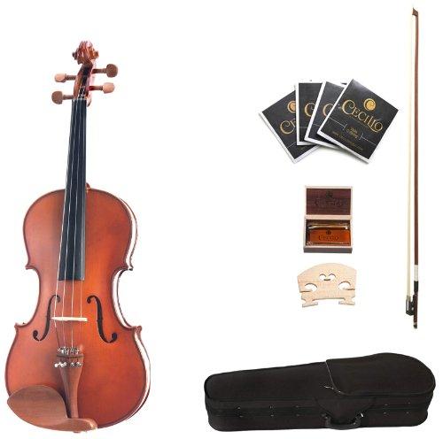Cecilio CVA-400 Solidwood Viola, Size 16-Inch