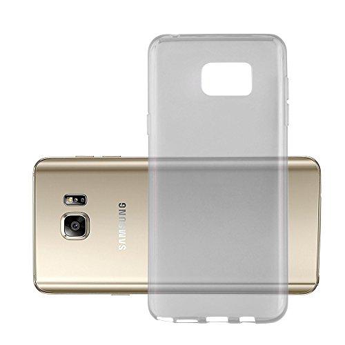 Preisvergleich Produktbild Cadorabo Hülle für Samsung Galaxy Note 5 - Hülle in TRANSPARENT SCHWARZ Handyhülle aus TPU Silikon im Ultra Slim 'AIR' Design - Silikonhülle Schutzhülle Soft Back Cover Case Bumper