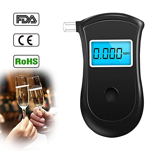 CRZJ Alkoholtester Alkohol Tester, professionelle Polizei Digital Tester Alkohol Alkoholtester Breathable Breath Ethanol Test Analyzer