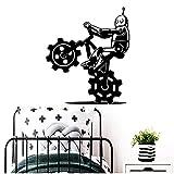 WYLYSD Robot Bicicleta Banksy Pegatina Papel Tapiz Autoadhesivo Decoración De Habitación De Guardería Calcomanías De Pared Para Decoración De Habitaciones Mural 57Cm X 66Cm