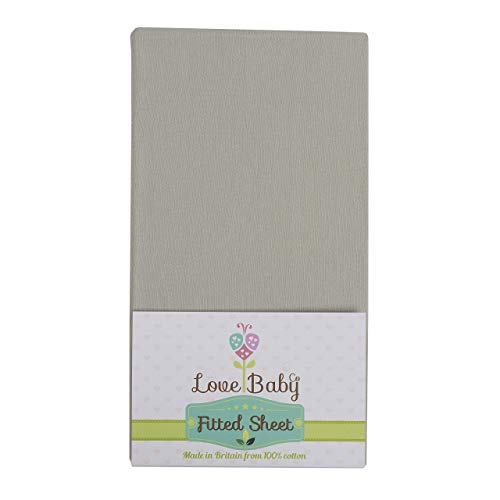 Premium Soft Grey Organic Cotton cot Sheet Made to fit The Babylo Cozi Sleeper