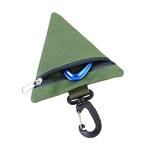 MARSPOWER Mini Billetera para Exteriores Monedero Monedero para Llaves Paquete EDC Bolsas pequeñas para Auriculares Bolsa de Cintura Triangular para Acampar Porta Llaves - Verde