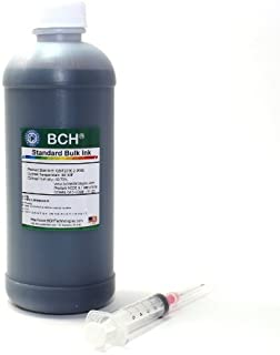 Refill Ink by BCH - Black for Inkjet Printer Cartridge - Standard Grade, Save by Buying Bulk - 500 ml Bottle (16.9 oz) - f...