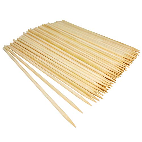 Natural Bamboo Skewers,Wooden Skewers,Skewer Sticks,kebab Sticks,Short Skewers,Wooden Kebab Skewers -Skewers for Fruit Kabobs,Appetizer, Chocolate Fountain, Cocktail More Food (6 inch(100 Pack))