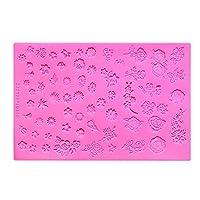 ネイル彫刻マニキュアステンシル3Dリリーフ型ファッション DIY.ネイルアート彫刻シリコン印刷テンプレート美容ツール CHAOCHAO (色 : 1)