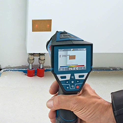 Bosch Professional GIS 1000 C Thermodetektor, 1 x 10,8 V 1,5 Ah Akku, Messgenauigkeit IR: +- 1,0° C, Arbeitsbereich: 0,1 - 5 m, L-Boxx, 0601083301