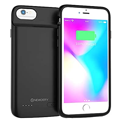 NEWDERY Battery Case for iPhone 6, 6s, 3200mAh Extended Battery Pack Charging Case Compatible with iPhone 6, 6s, Portable Rechargeable Battery Case Protective Backup Charger Case 4.7inch by Shenzhen Zhenghaixin Technology Co., Ltd.