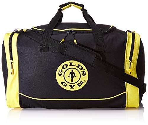 Gold's Gym 2017 Large Sports Duffel Bag Mens Gym Bag/Travel Holdall Black/Gold