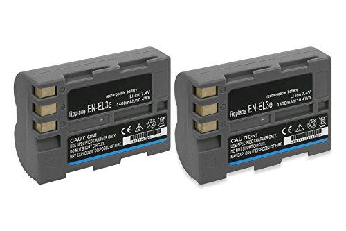 2X Baterías EN-EL3e para Nikon D50, D70s, D80, D90, D200, D300, D300S, D700