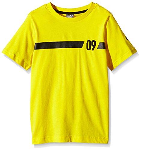 PUMA Kinder T Shirt BVB 09 Tee, Cyber Yellow, 164