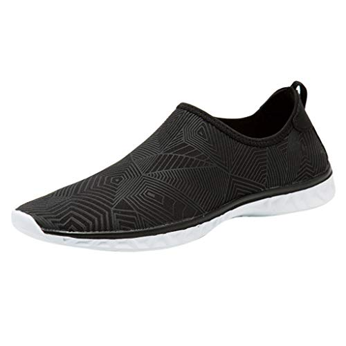 Running Shoes Men's Knit Breathable Comfortable Sneakers Lightweight Athletic Tennis Walking Running Shoes Black