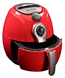 EASY TO USE - This airfryer has easy to use manual controls and a removable, dishwasher safe basket STYLISH - You can enjoy healthy eating, and this red air fryer will look good in your kitchen too READY TO GO - Comes with all you need to make health...