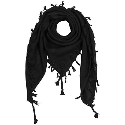Superfreak Palituch - schwarz - schwarz - 100x100 cm - Pali Palästinenser Arafat Tuch - 100% Baumwolle