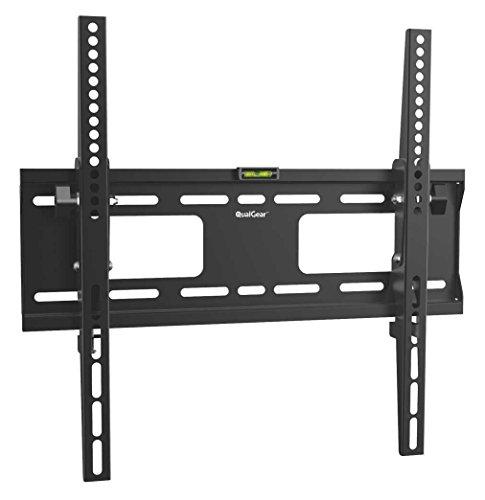 QualGear QG-TM-T-015 Universal Low Profile Tilting Wall Mount for 32-55 Inches LED TV, Black (Renewed)