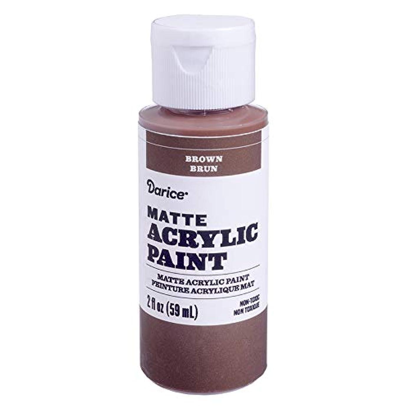 Darice DPCS147-63 Matte Brown, 2 Ounces Acrylic Paint,