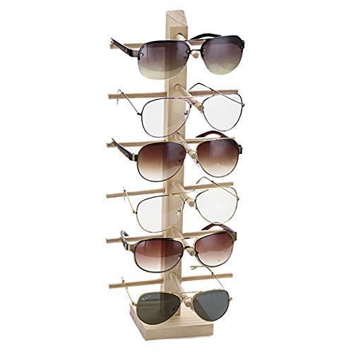 ZOYLINK Expositor De Gafas Estante De Gafas De Sol Soporte De Vasos Decorativos De Madera