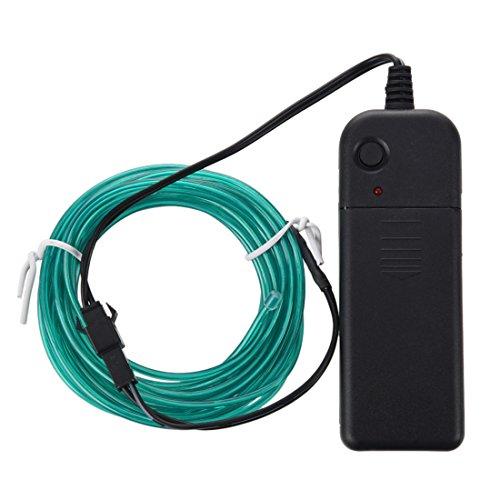 ACAMPTAR Gruen Lichtschnur Leuchtschnur Leuchtdraht EL Neon Kabel