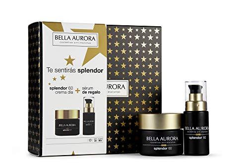 Bella Aurora - Pack Splendor 60 Día + Sérum Reafirmante 30ml | con flor de Edelweiss | Anti-edad | Efecto Lifting | con Ácido Hialurónico