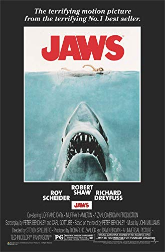 Jaws - Shark Movie Poster 24x36 inches