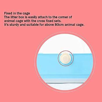 Baffect Bac à litière en Coin pour la Maison des Toilettes en Coin, Bac à litière en Cage pour Lapin de Grande Taille avec tiroir Amovible pour Petit Animal, cobaye L (Rose)