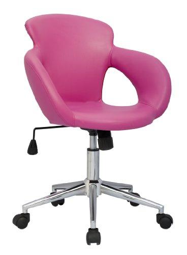 SixBros. Bürostuhl Schreibtischstuhl Drehstuhl Pink M-65335-1/1305